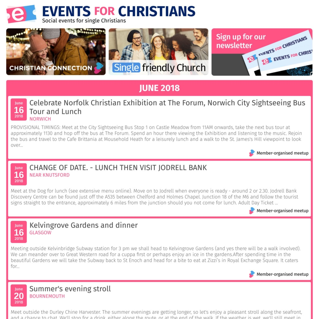 Events for Christians