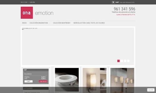 Tienda online de iluminación de diseño.