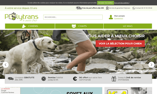 Fabrication et la vente par correspondance d'articles pour chiens et chats