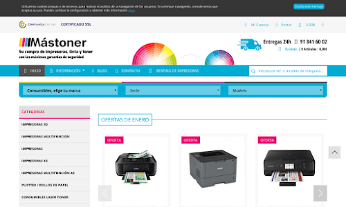 Mástoner, Consumibles y Máquinas de Impresión