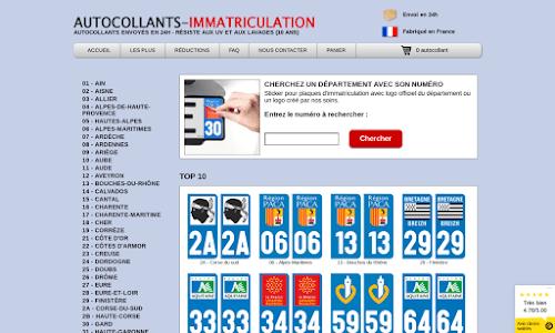 Autocollants-Immatriculation