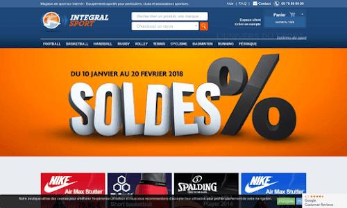 Integral Sport - Magasin de Sport sur Internet