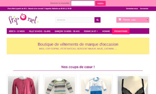 Vêtements d'occasion de marque enfants, fripOnet