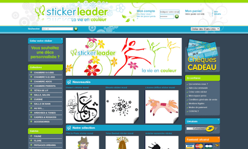 Vente de stickers décoratifs : sticker leader