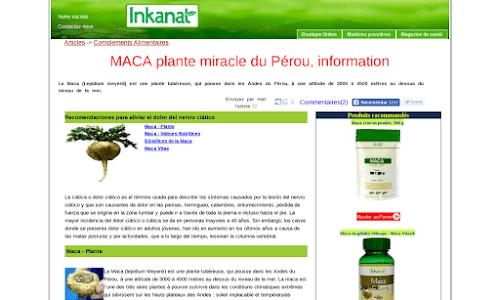 Vente par internet et en gros de Maca du Pérou