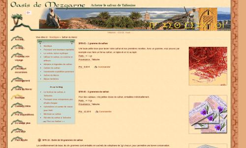 Safran bio du Maroc Alimentation bio et diététique