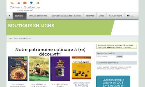 Boutique de Cuisine du Québec.com Produits du terroir