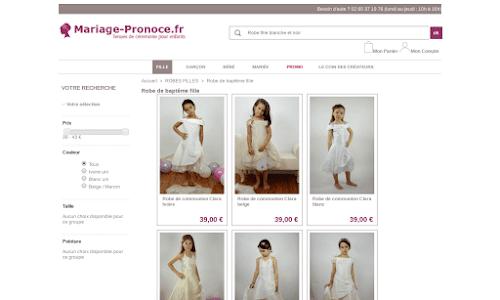 Mariage Pronoce Mode Enfant