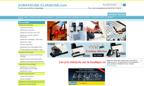 Agrafeuse-cloueuse Bricolage