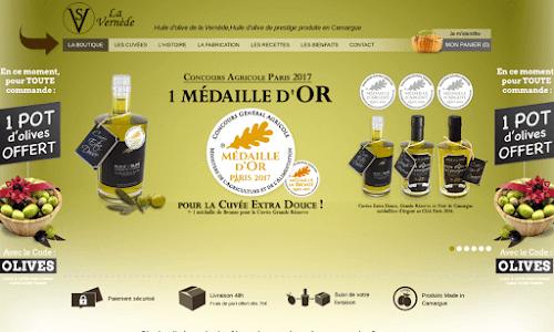 Huile d'olive de la Vernède Alimentation bio et diététique