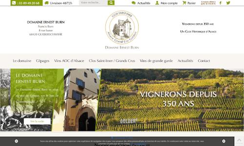 Vins d'Alsace, domaine Ernest BURN Alcool, vin et spiritueux