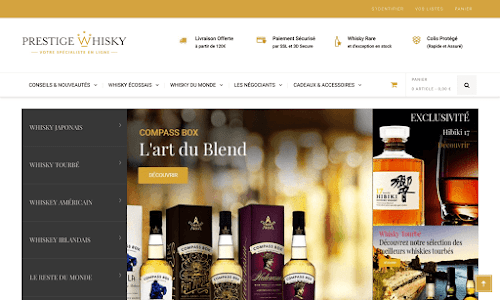 Prestige Whisky Alcool, vin et spiritueux