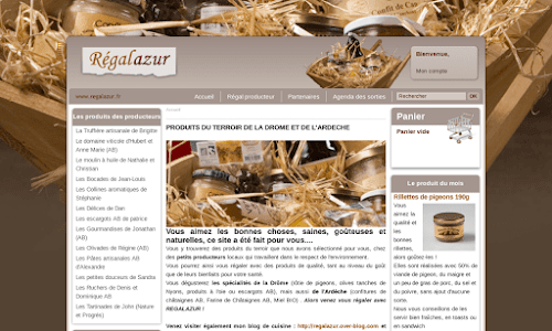 Produits bio en provenance de la ferme Gastronomie