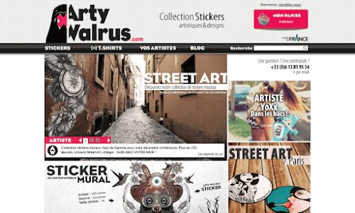 Arty Walrus Stickers & adhésifs