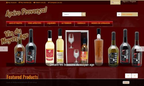 Apéro Provençal Alcool, vin et spiritueux