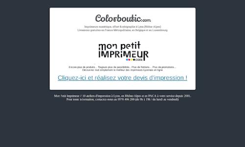 Imprimerie en ligne - Colorboutic