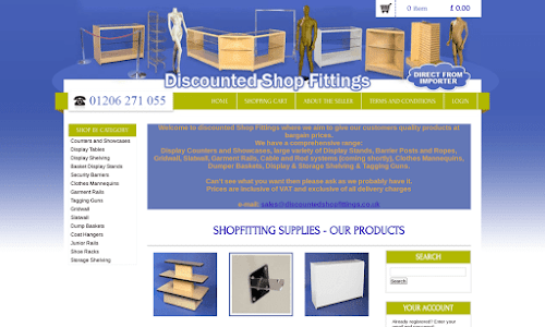 Discounted Shop Fittings Furniture and equipment