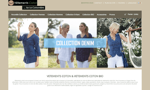 Vêtements Coton : Marque La Cotonnière