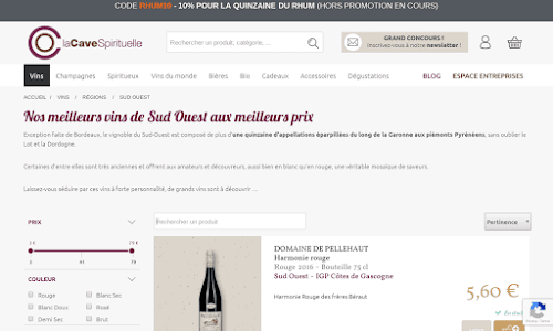 Cave-spirituelle Alcool, vin et spiritueux