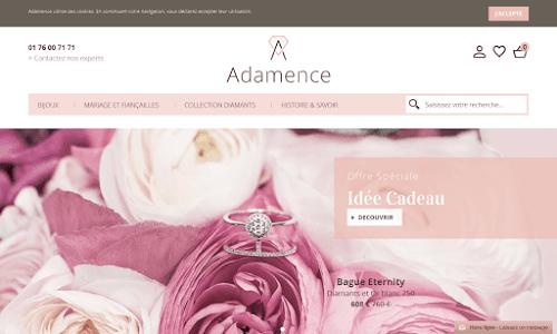 Adamence, bagues et bijoux diamant
