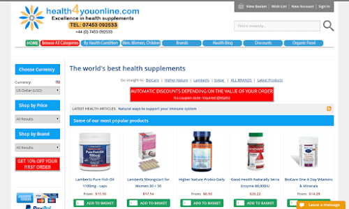 Health4youonline Non-prescription medicines and equipment