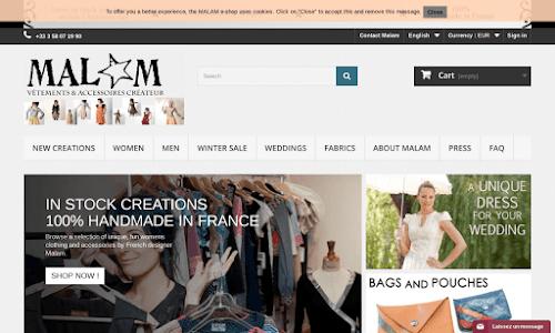 MALAM Créateur de Mode Mode Femme