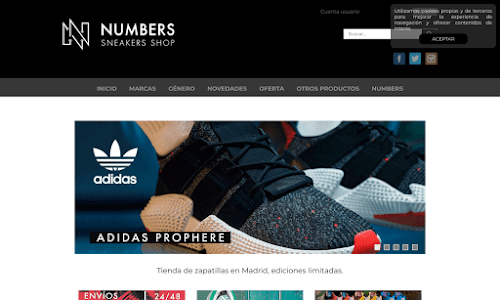NumberSneakers Zapatos