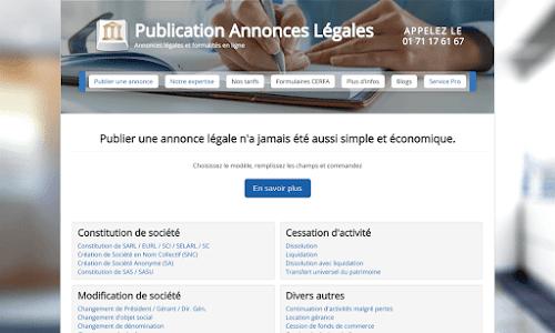 Publication Annonce Légale