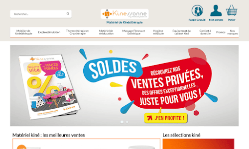 Kinessonne France, matériel pour kinésithérapeutes