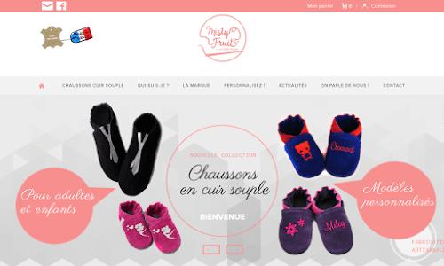 Chaussons en cuir souple - Création artisanale française Mode Enfant