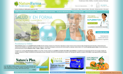 Parafarmacia on-line NatureFarma.com