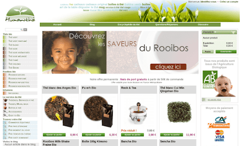 Thé noir : boutique en ligne Café et thé