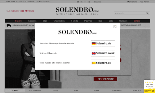 Solendro Lingerie masculine