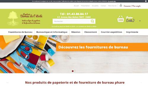 Papeterie en ligne solution rangement : Bureau Etoile
