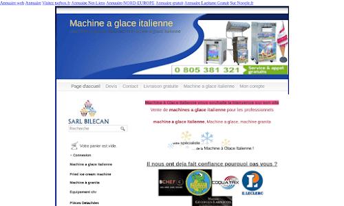 Machine glace italienne Matériel