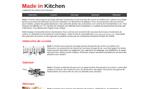 Made in Kitchen Matériel