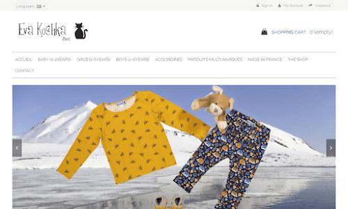 Eva Koshka créatrice de mode pour bébés