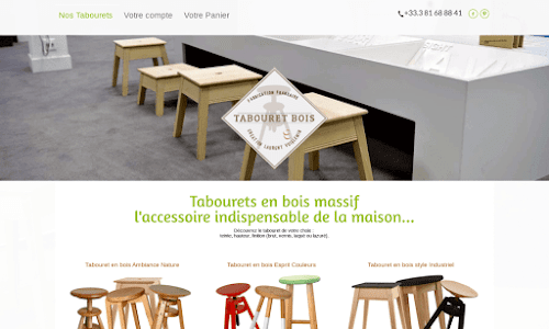 Tabouret-bois Mobilier