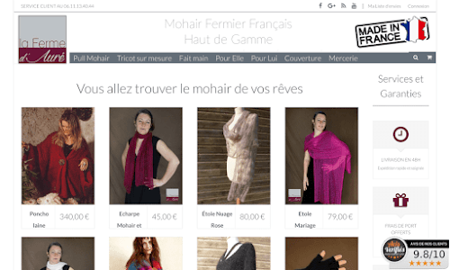 Mohair et Lama Mode Femme