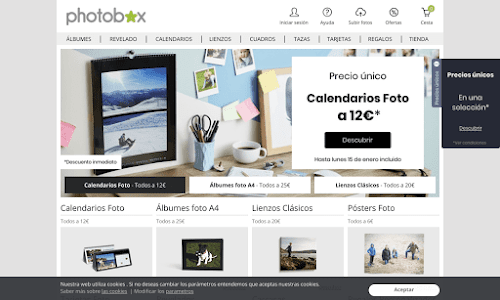 PhotoBox, revelado de fotos y álbumes digitales online