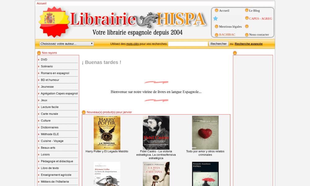 Librairie HISPA