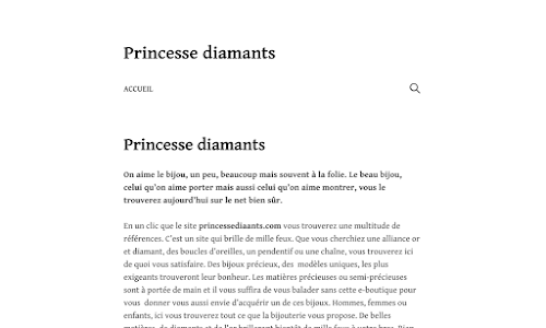 Les Bijoux Princesse Diamants