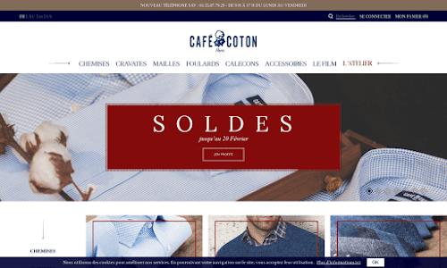 Café-coton, chemises et accessoires pour homme