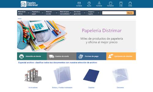 Papeles Distrimar S.L. Material de oficina, ofimática y papelería