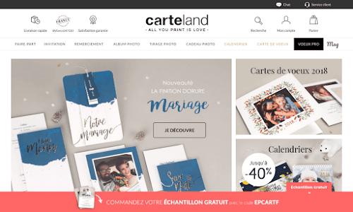 Carteland, faire-part personnalisé