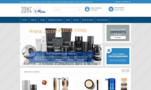 Zone4men : Boutique beauté & soins des cheveux