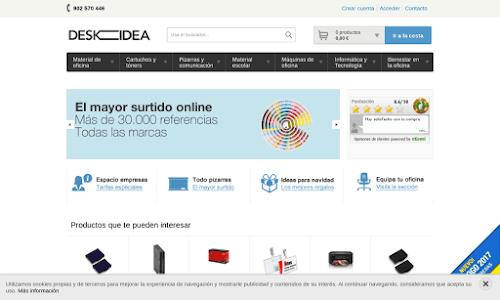 Deskidea, material de oficina online, material escolar y papelería