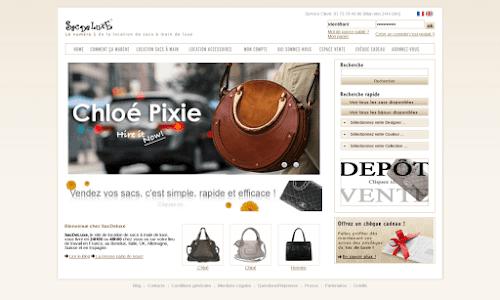 Location de sacs à main et bijoux de luxe.
