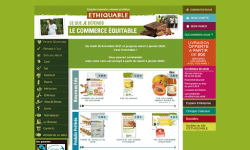 La boutique en ligne d'Ethiquable