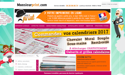 Monsieur print : impression de vos documents Fourniture et mobilier